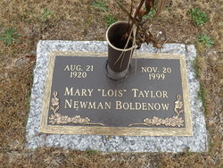 MARY LOIS NEWMAN LOIS <i>TAYLOR</i> BOLDENOW