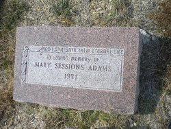 Mary J. <i>Sessions</i> Adams