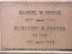 Elizabeth Sarah Lizzie <i>Owston</i> Brown