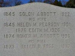 Ellen Nellie Drew <i>Foss</i> Abbott