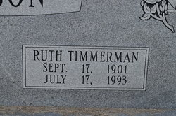 Ruth Myrtle <i>Timmerman</i> Hinson