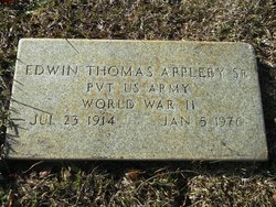 Pvt Edwin Thomas Appleby, Sr