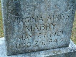 Mrs Virginia May <i>Atkins</i> Mabry