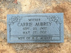Clara Carrie <i>Whitworth</i> Aubrey