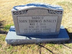 John Thomas Daddi O Binkley