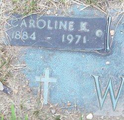 Caroline Katherine Carrie <i>Hartwick</i> Walder