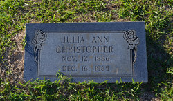 Julia Ann <i>Chandler</i> Christopher