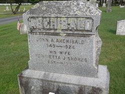 Henrietta J <i>Shores</i> Archibald