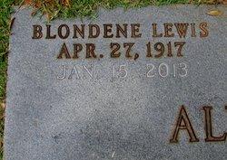 Agnes Blondene <i>Lewis</i> Alverson