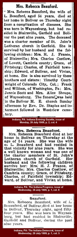 Rebecca Ann <i>Courtwright</i> Beaufort