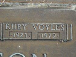 Ruby <i>Voyles</i> Anderson