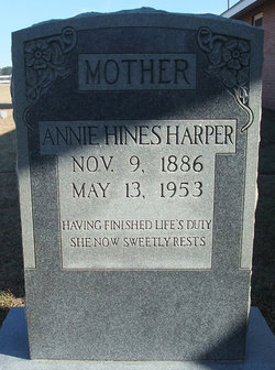 Annie F. <i>Hines</i> Harper