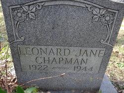 Leonard Jane Chapman