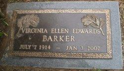Virginia Ellen <i>Edwards</i> Barker
