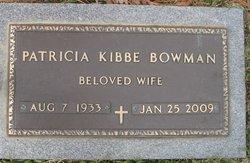 Patricia <i>Kibbe</i> Bowman