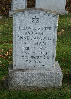 Anne E. <i>Sakowitz</i> Altman