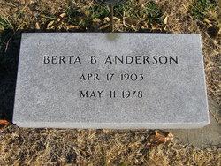 Mrs Berta Belle <i>Hundley</i> Anderson