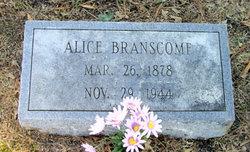 Alice <i>Hill</i> Branscome