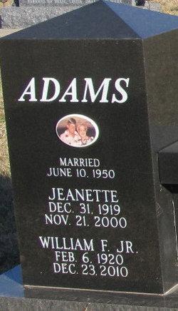 William Frank Bill Adams, Jr