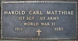 Harold Arthur Carl Matthiae