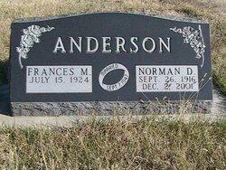 Frances M <i>Martin</i> Anderson
