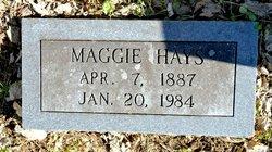 Margaret Mahalia Maggie <i>Jacobs</i> Hays