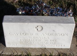 Pvt Gaylord R. Anderson