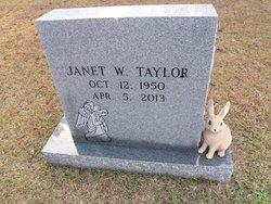 Janet W. <i>Workman</i> Taylor