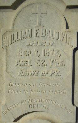 William F Baldwin