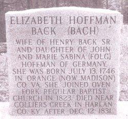 Elizabeth <i>Hoffmann-Maggard</i> Back