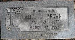 Alice J Brown