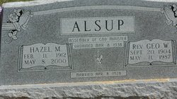 Hazel M <i>Cunningham</i> Alsup