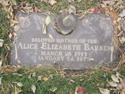 Alice Elizabeth Barber