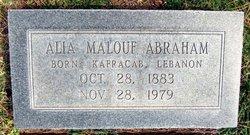 Alia Abdullah Bulos <i>Malouf</i> Abraham