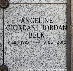 Angeline <i>Jordan</i> Belk
