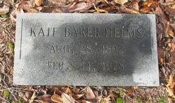 Kate <i>Helms</i> Baker