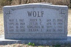 Julia C <i>Kohler</i> Wolf