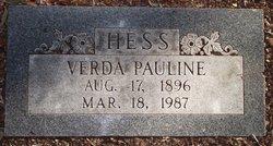 Verda Pauline Roomie <i>Erwin</i> Hess