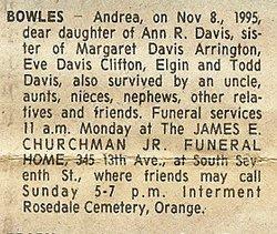Andrea <i>Davis</i> Bowles