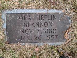 Ora Veatrice <i>Heflin</i> Brannon