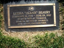 Letha Alean <i>Cox</i> Beaury