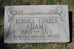 Bernice <i>Cowden</i> Adams