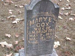 Mary E <i>Cox</i> Bradford