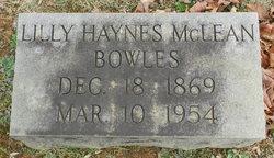 Lillie <i>Haynes</i> Bowles