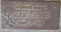 Alice Juanita <i>Miller</i> Lopez