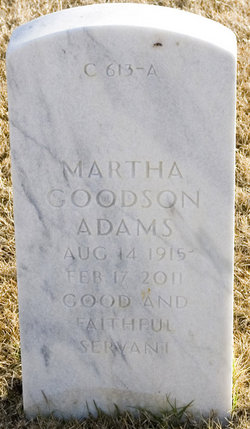 Martha <i>Goodson</i> Adams