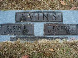 Susannah Susan <i>Kiser</i> Evans