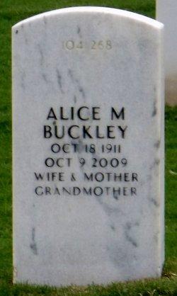 Alice M Buckley