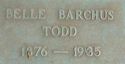 Isabelle Goodyear Belle <i>Barchus</i> Todd