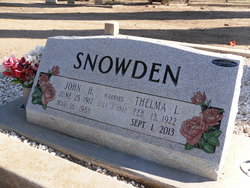 Thelma Lucille <i>Adkins</i> Snowden